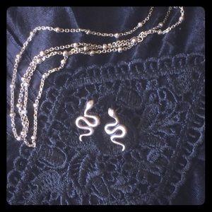 Jewelry - Sterling Silver Snake Earrings